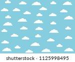 cloud on blue sky background....   Shutterstock .eps vector #1125998495