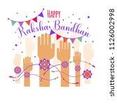 illustration of colorful rakhi... | Shutterstock .eps vector #1126002998