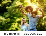 picture of happy young couple... | Shutterstock . vector #1126007132