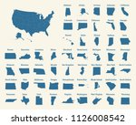 outline map of the united... | Shutterstock .eps vector #1126008542