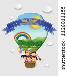 illustration of  kids summer... | Shutterstock .eps vector #1126011155