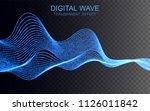 glowing digital wave.... | Shutterstock .eps vector #1126011842