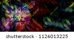 color widescreen grunge painted ... | Shutterstock . vector #1126013225