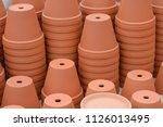 lots of orange brown terracota... | Shutterstock . vector #1126013495