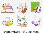 flat vector set of icons... | Shutterstock .eps vector #1126015088