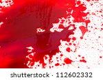 halloween concept   blood... | Shutterstock . vector #112602332