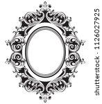 baroque mirror frame line art.... | Shutterstock .eps vector #1126027925