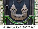 wrought iron gates  ornamental... | Shutterstock . vector #1126028342