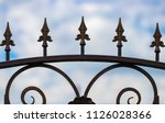 wrought iron gates  ornamental... | Shutterstock . vector #1126028366
