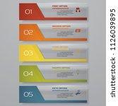 design clean number banners... | Shutterstock .eps vector #1126039895
