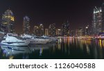 Dubai Marina Bay With Yachts An ...