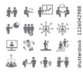 business man icon set 1 people... | Shutterstock .eps vector #1126042988
