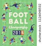 football soccer players... | Shutterstock .eps vector #1126048532