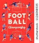 football soccer players... | Shutterstock .eps vector #1126048535