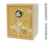 3d gold safe box | Shutterstock . vector #1126052678