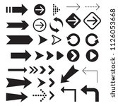 arrow icons symbol collection. | Shutterstock .eps vector #1126053668