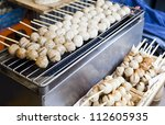 traditional thai meat ball | Shutterstock . vector #112605935