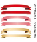 ribbon red pink gold | Shutterstock .eps vector #112606262