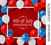 fourth of july  independence... | Shutterstock . vector #1126065176