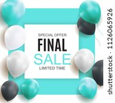 final sale balloon background ... | Shutterstock . vector #1126065926