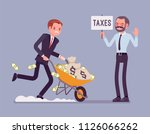 tax evasion attempt. young man... | Shutterstock .eps vector #1126066262