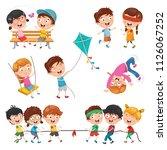 vector illustration of children ... | Shutterstock .eps vector #1126067252