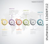 time line info graphic with... | Shutterstock .eps vector #1126069112