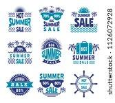 badges of summer sale. vector...   Shutterstock .eps vector #1126072928