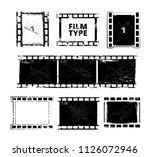 film strip template. vector... | Shutterstock .eps vector #1126072946