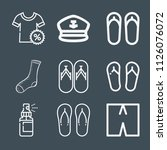 fashion icon set   outline... | Shutterstock .eps vector #1126076072