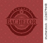 bachelor red emblem | Shutterstock .eps vector #1126079648