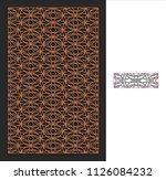 decorative panel. stencil...   Shutterstock .eps vector #1126084232