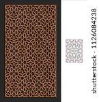 decorative panel. stencil...   Shutterstock .eps vector #1126084238