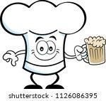 cartoon illustration of a chef... | Shutterstock .eps vector #1126086395