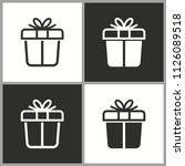 vector gift box surprise icon   ... | Shutterstock .eps vector #1126089518