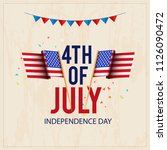 happy 4th of july usa... | Shutterstock .eps vector #1126090472