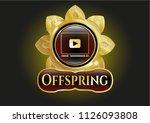 shiny emblem with video player ... | Shutterstock .eps vector #1126093808