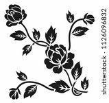flower design sketch | Shutterstock .eps vector #1126096832