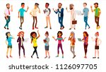 multinational people set.... | Shutterstock . vector #1126097705