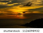 sunset at the sea | Shutterstock . vector #1126098932