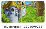 cartoon scene of a princess  ... | Shutterstock . vector #1126099298