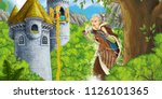 cartoon scene of a princess  ... | Shutterstock . vector #1126101365