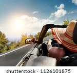summer photo of car and free... | Shutterstock . vector #1126101875