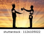 man is an altruist who... | Shutterstock . vector #1126105022