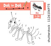 dot to dot educational game and ... | Shutterstock .eps vector #1126106975