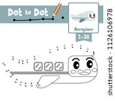 dot to dot educational game and ...   Shutterstock .eps vector #1126106978