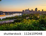 downtown st. paul minnesota... | Shutterstock . vector #1126109048