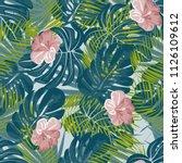 beautiful tropical seamless... | Shutterstock .eps vector #1126109612