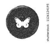 butterfly hipster emblem vector ... | Shutterstock .eps vector #1126124195