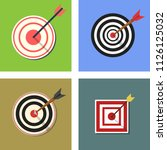 target icon. aim symbol for web ... | Shutterstock .eps vector #1126125032